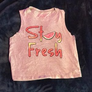 Stay fresh cropped tank.